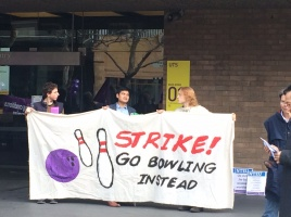 Banner - Photos from NTEU strike for a fair Academic Agreement