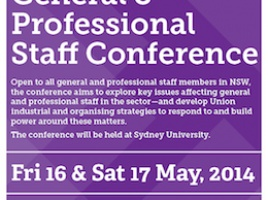 Banner - Conference for NSW general and professional staff members