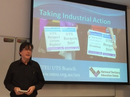 Banner - NTEU members endorse plan for industrial action at UTS