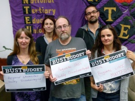Banner - Can you help us bust the budget and defend universities?
