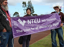 Banner - Media Release: NTEU members vote for industrial action at the University of WA