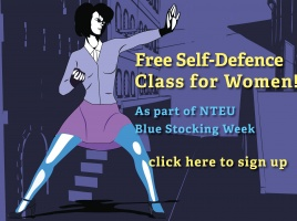 Banner - Self Defence sessions for NTEU and Guild members!