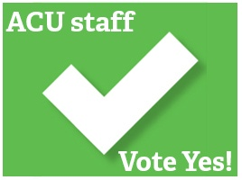 Banner - NTEU says VOTE YES!