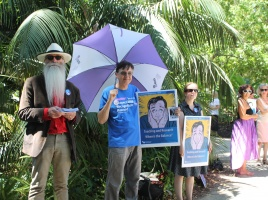 Banner - UWA NTEU Members Protest: Media release and Photos