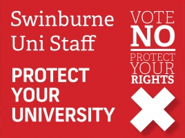 Banner - Swinburne senior management offer deeply flawed 'agreement'.