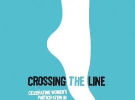 Banner - Crossing the Line: Survival and Resistance Blue Stocking Week , August 11-15