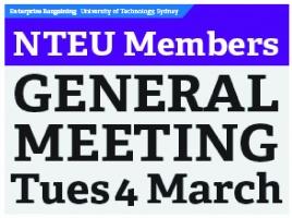 Banner - UTS Members Meeting: Preparing for Industrial Action